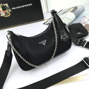 Prada hobo canvas black
